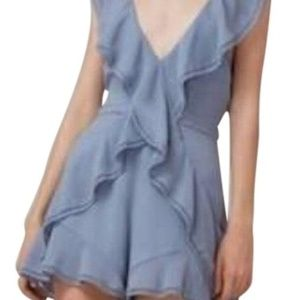 Keepsake the Label Light Blue Holiday Romper